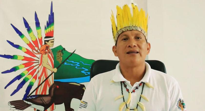 Entrevista para el ECA Amarakaeri, el líder harakbut y presidente de ANECAP Fermín Chimatani