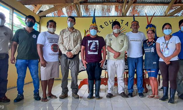 Comunidad nativa Puerto Azul Mberowe presenta demandas indígenas ante congresista Alexander Lozano