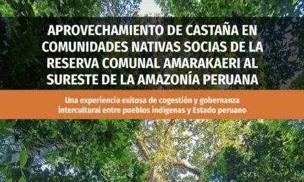 Aprovechamiento de castaña en comunidades nativas socias de la Reserva Comunal Amarakaeri al sureste de la Amazonía peruana