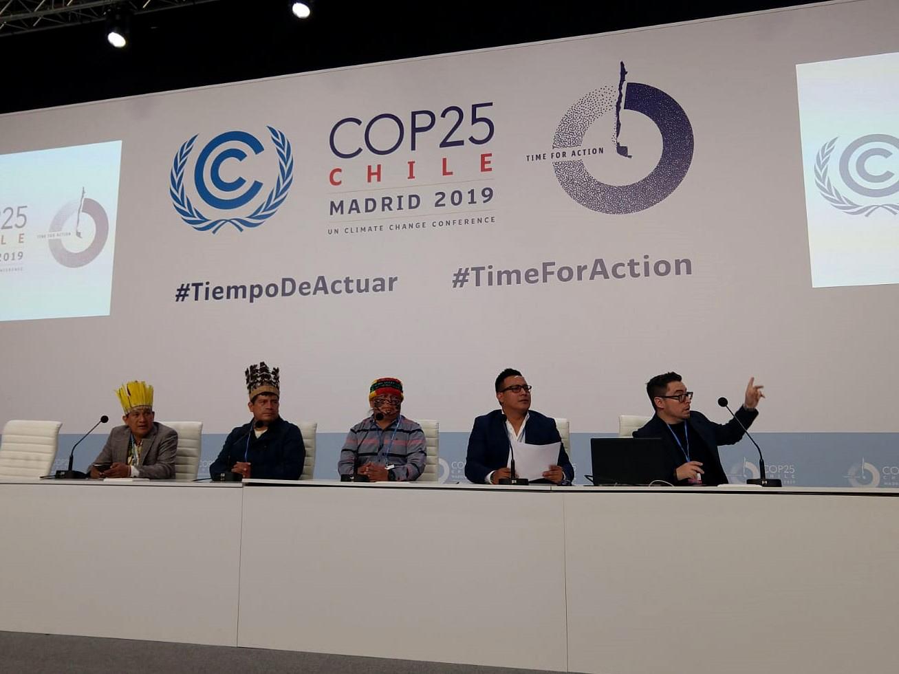 Durante la COP25, ECA Amarakaeri y Anecap evidenciaron la alianza intercultural que existe entre el Estado peruano y los pueblos indígenas a través de la cogestión de la Reserva Comunal Amarakaeri