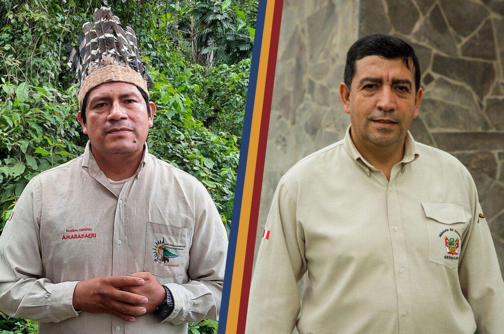 Cogestores de la Reserva Comunal Amarakaeri, Walter Quertehuari y Asvín Flórez