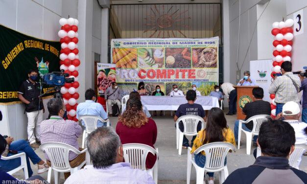 Comunidad nativa Shintuya recibe equipos de Procompite 2020